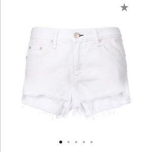 Rag & Bone white denim shorts